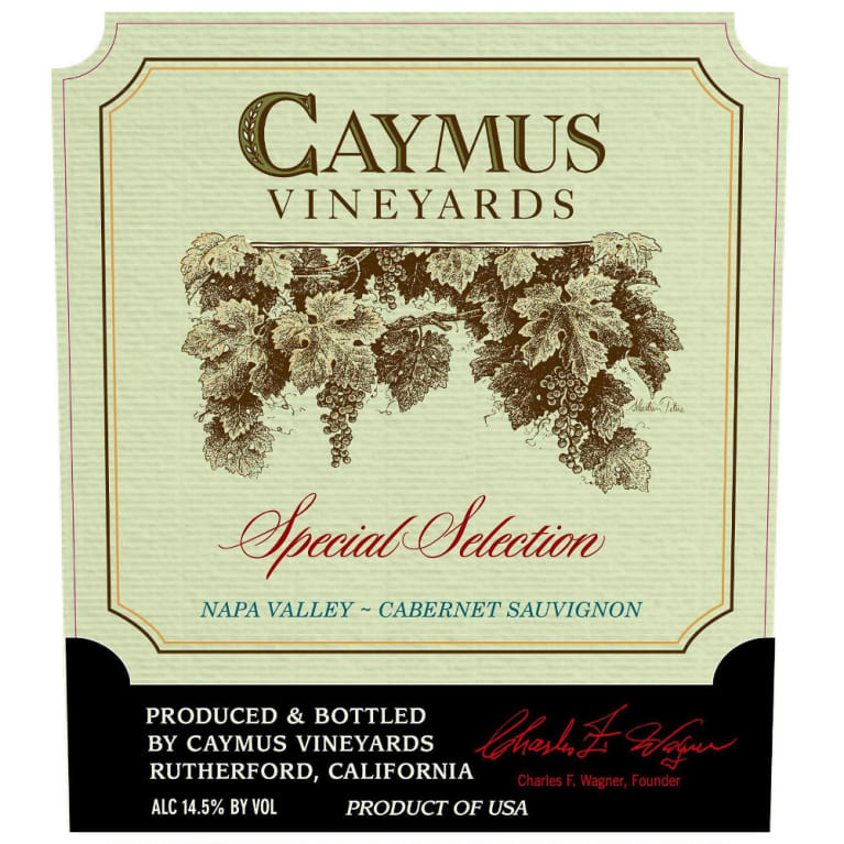 Caymus Special Selection Cabernet Sauvignon 2012 Front Label