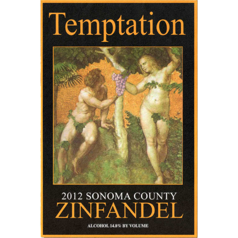 Alexander Valley Vineyards Temptation Zinfandel 2012 Front Label