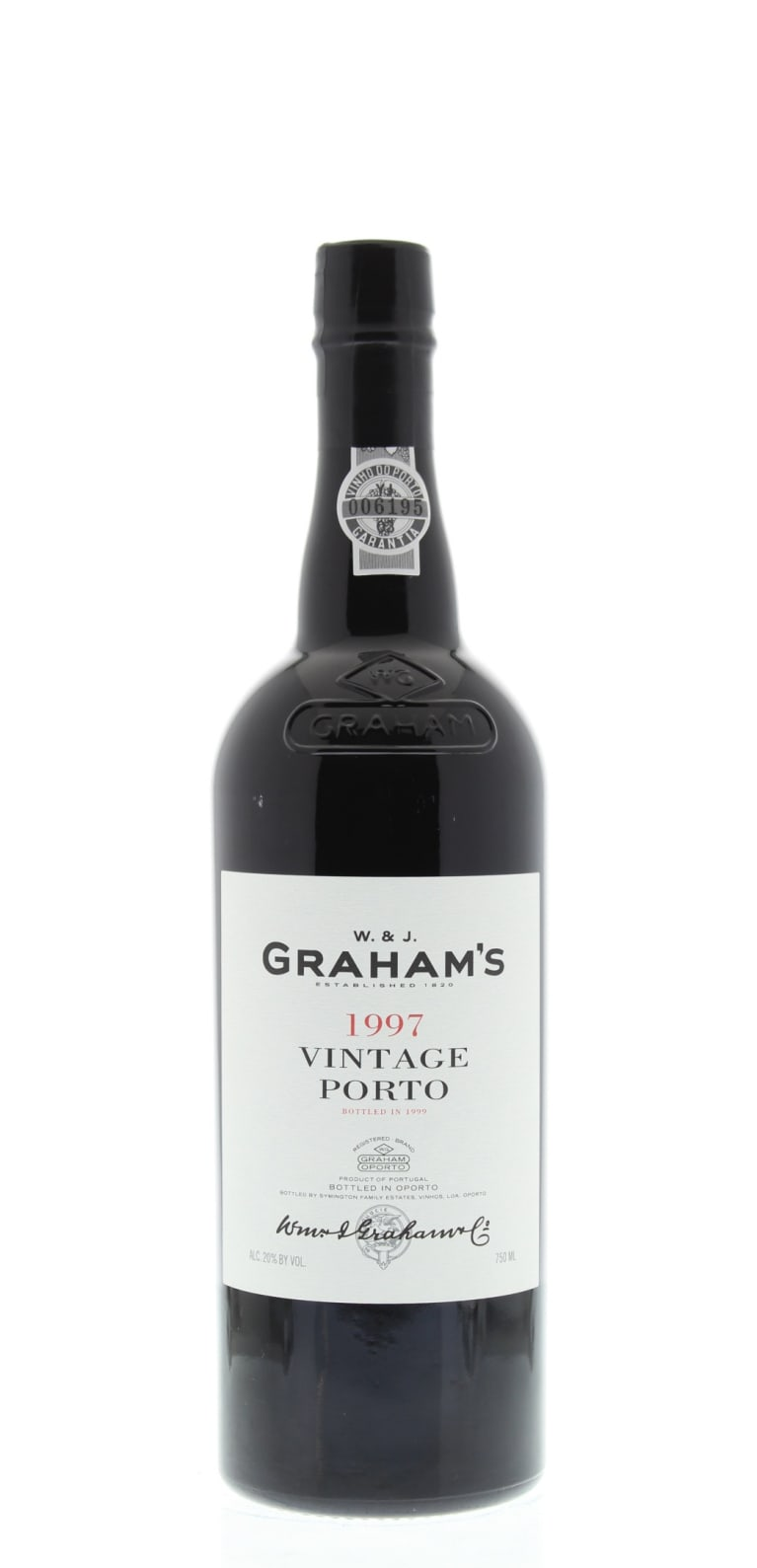 Graham's Vintage Port 1997 Front Bottle Shot