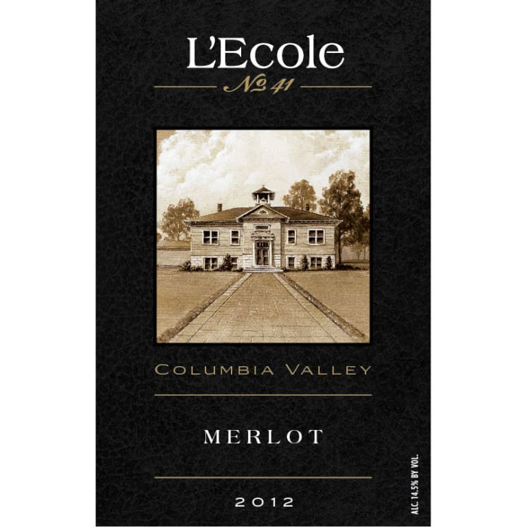 L'Ecole 41 Columbia Valley Merlot 2012 Front Label