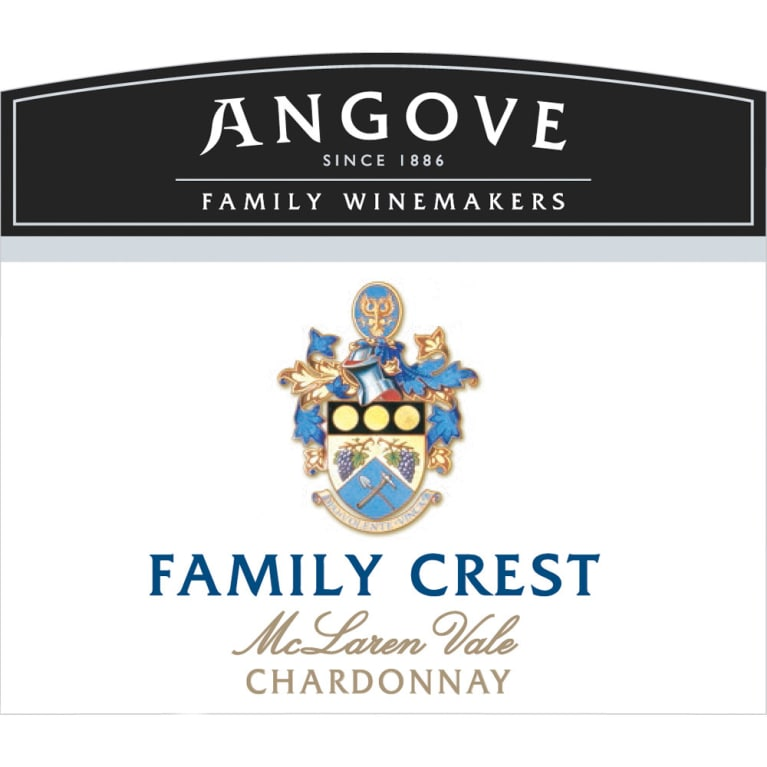 Angove Family Winemakers Family Crest Chardonnay 2014 Front Label