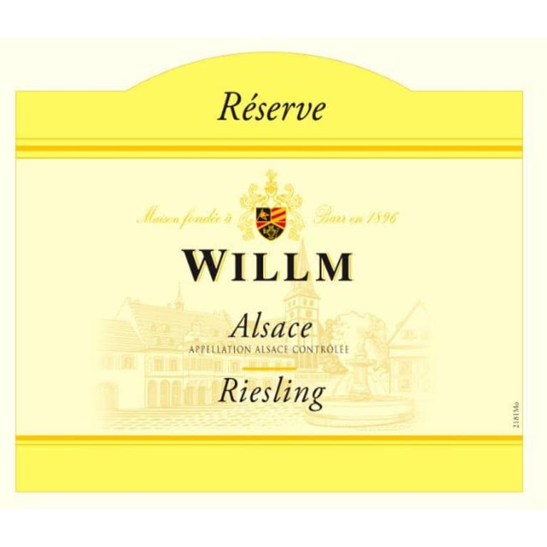 Alsace Willm Riesling Reserve 2013 Front Label