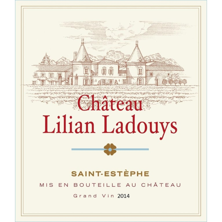 Chateau Lilian Ladouys  2014 Front Label