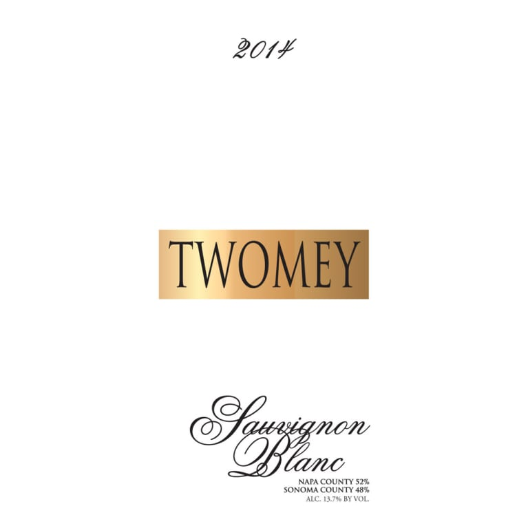 Twomey Cellars by Silver Oak Sauvignon Blanc 2014 Front Label