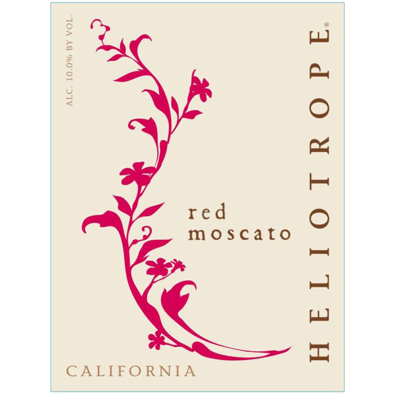 Heliotrope Red Moscato 2014 Front Label