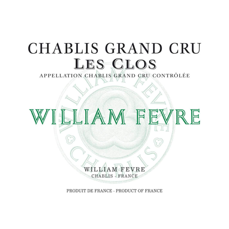 William Fevre Chablis Les Clos Grand Cru 2013 Front Label