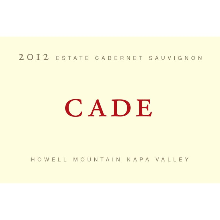 CADE Howell Mountain Estate Cabernet Sauvignon 2012 Front Label