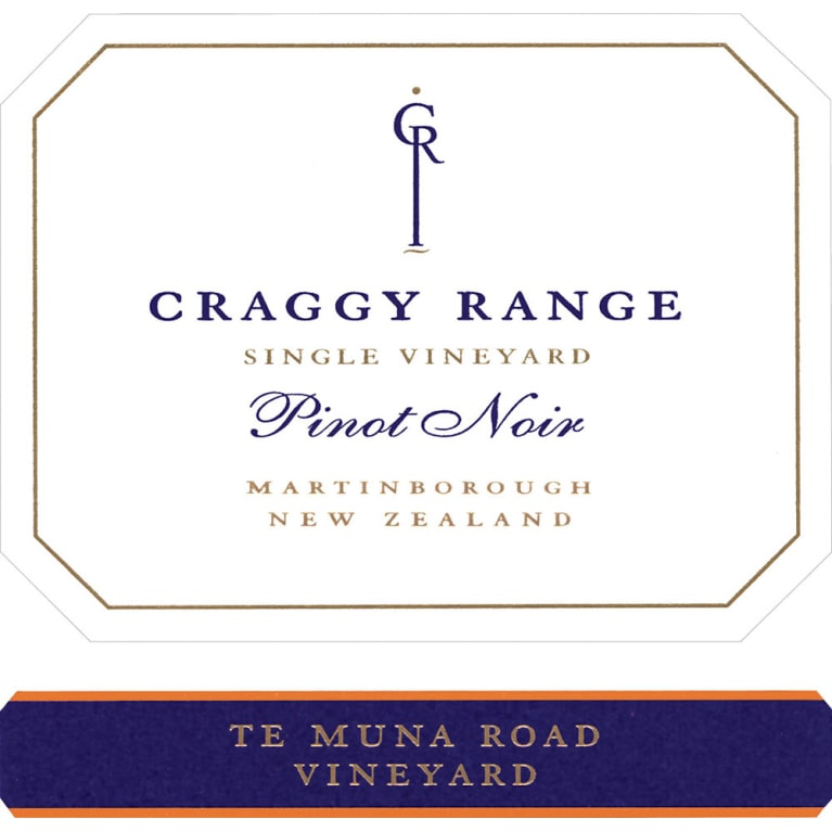 Craggy Range Winery Te Muna Road Vineyard Pinot Noir 2012 Front Label