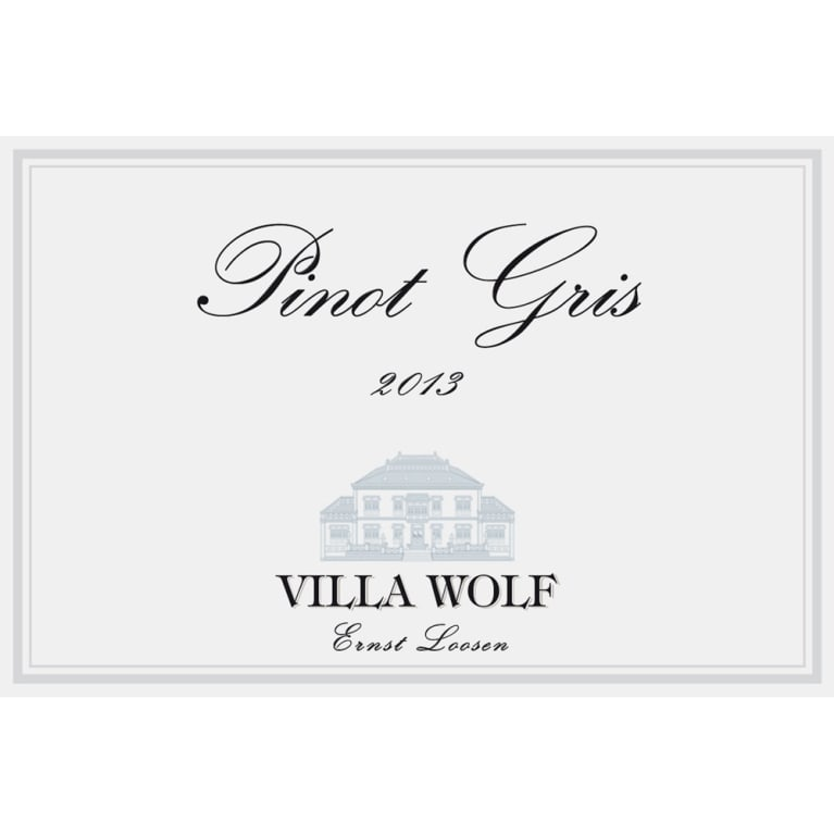 Villa Wolf Pinot Gris 2013 Front Label