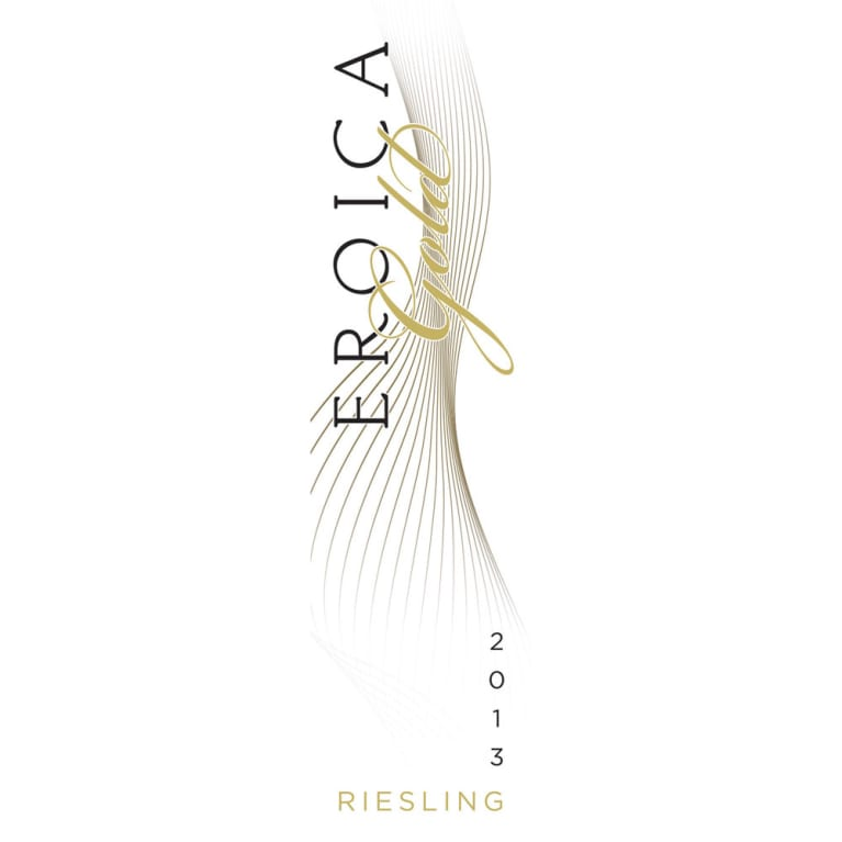 Eroica Gold Riesling 2013 Front Label