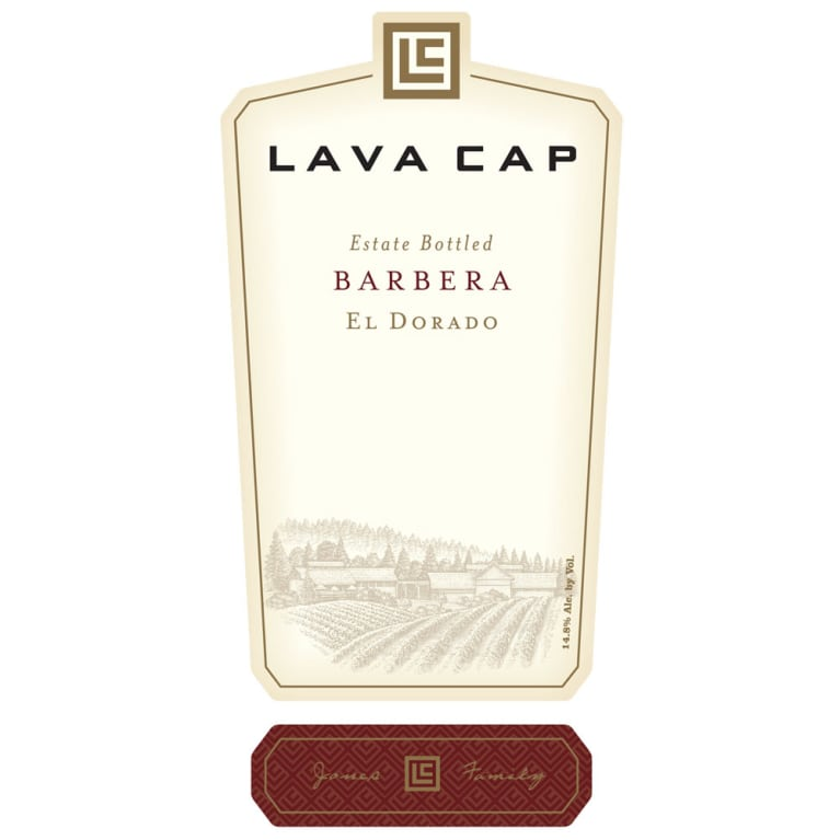 Lava Cap Barbera 2012 Front Label