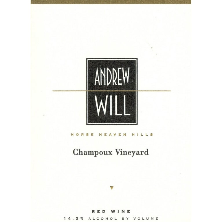 Andrew Will Winery Champoux Vineyard Horse Heaven Hills 1999 Front Label