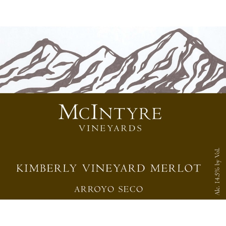 McIntyre Kimberly Vineyards Merlot 2012 Front Label
