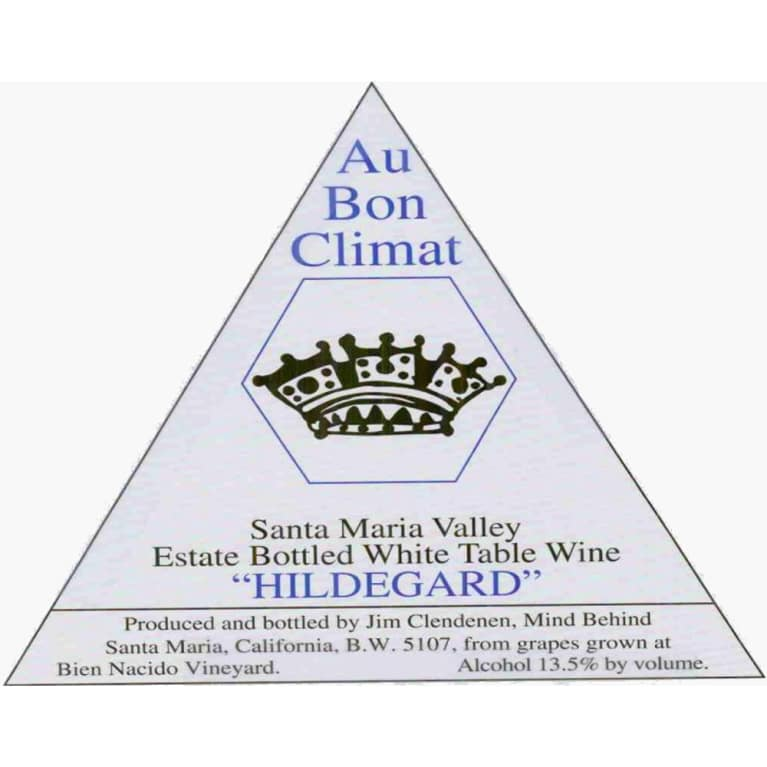 Au Bon Climat Hildegard Estate White Blend 2012 Front Label