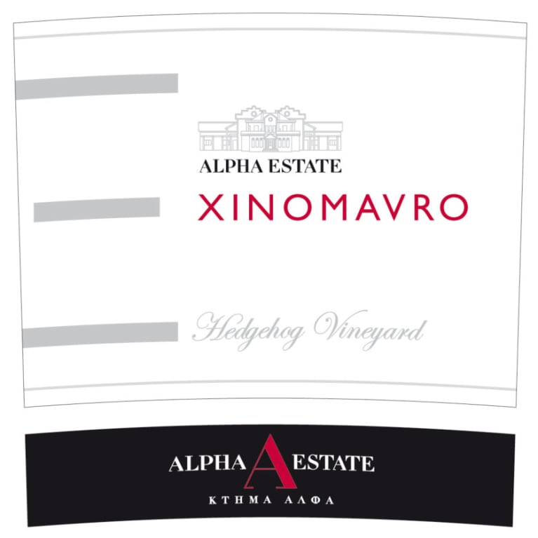 Alpha Estate Hedgehog Vineyard Xinomavro 2010 Front Label