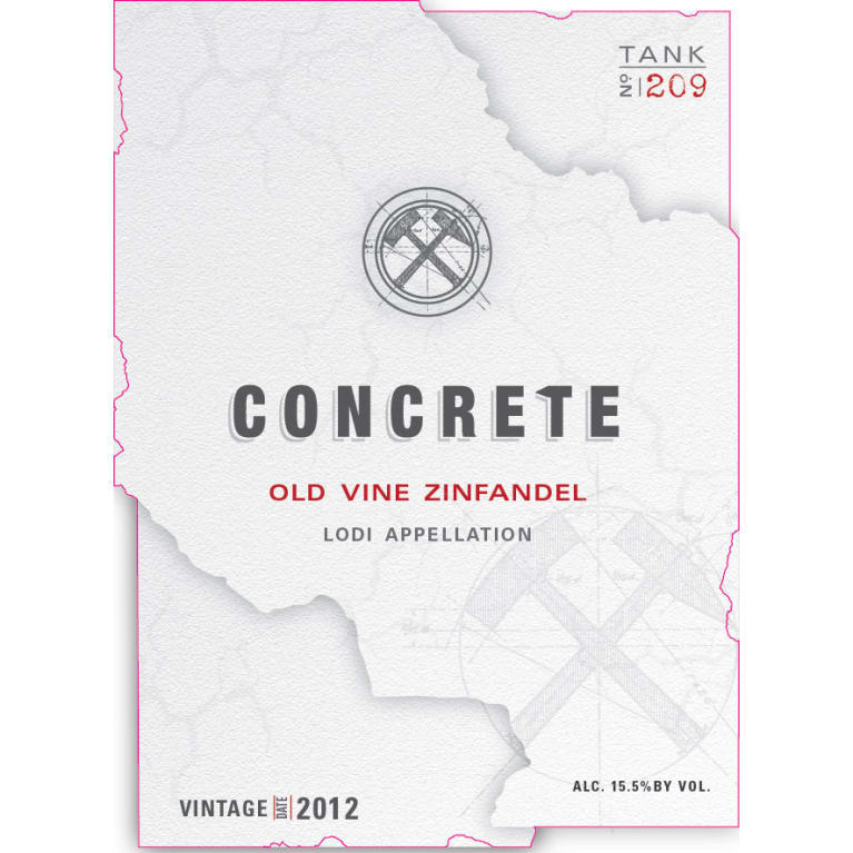 Concrete Old Vine Zinfandel 2012 Front Label