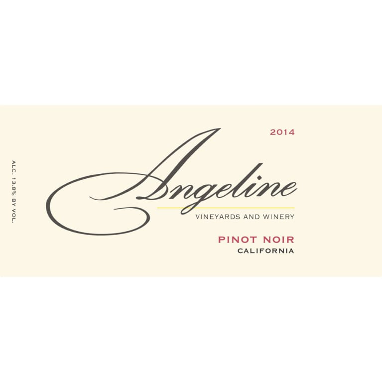 Angeline California Pinot Noir 2014 Front Label