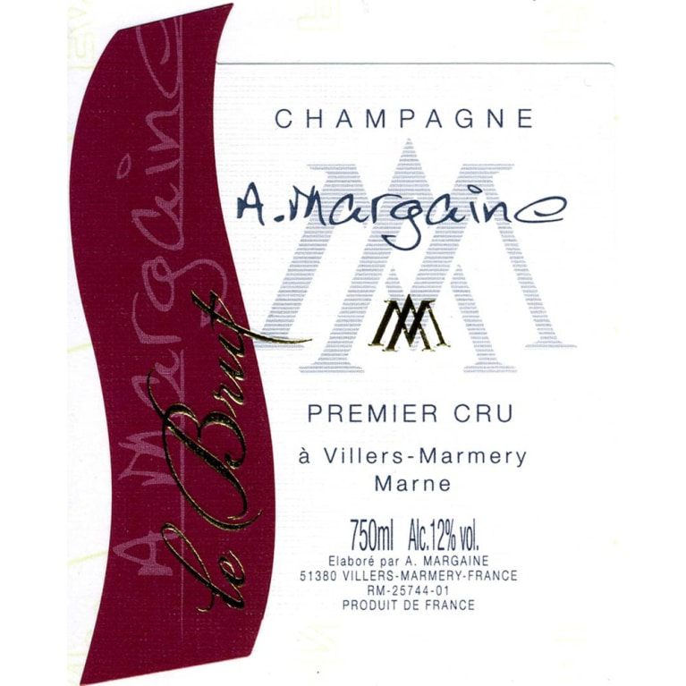 A. Margaine Brut Cuvee Traditionelle Front Label