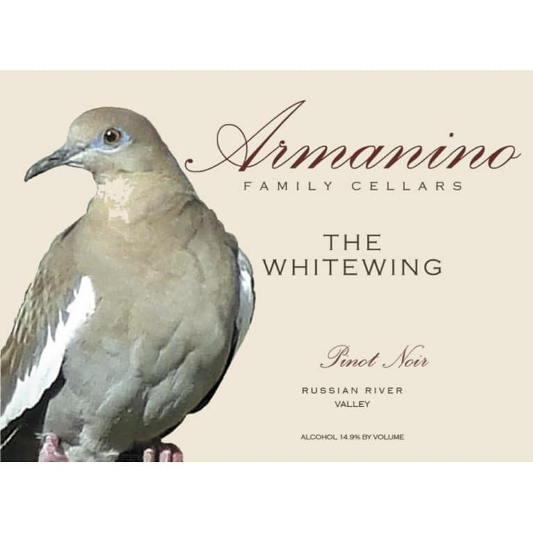 Armanino The Whitewing Pinot Noir 2012 Front Label
