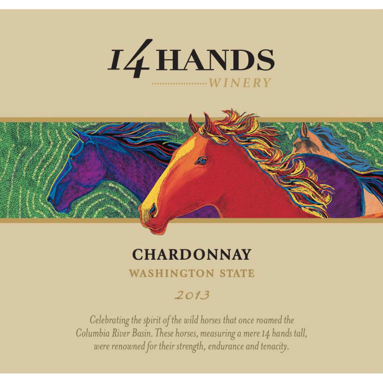14 Hands Chardonnay 2013 Front Label