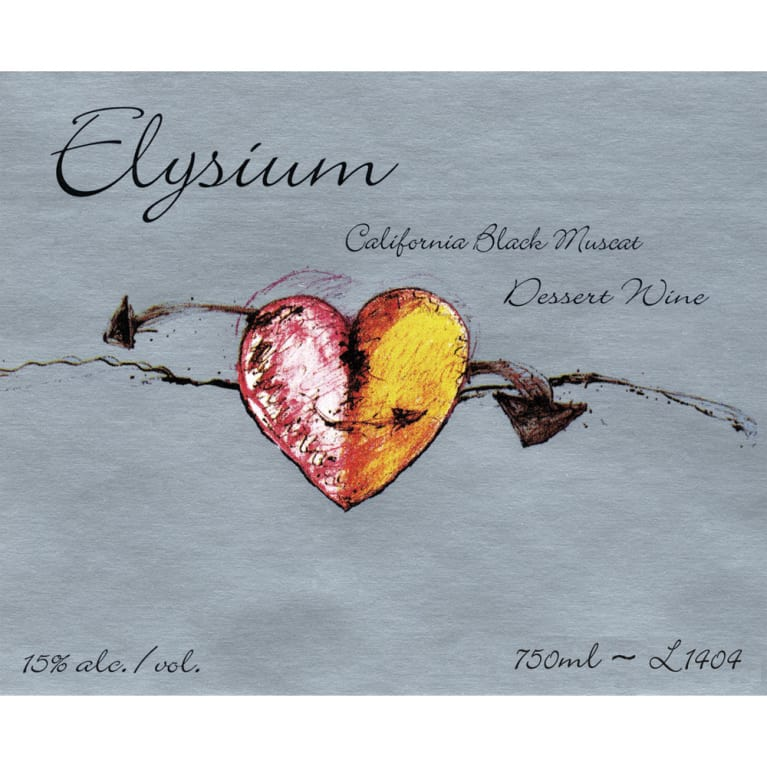 Quady Elysium Black Muscat 2014 Front Label