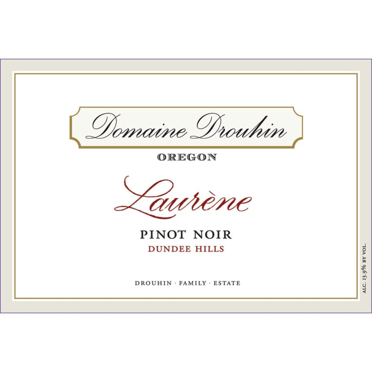 Domaine Drouhin Oregon Laurene Pinot Noir 2012 Front Label