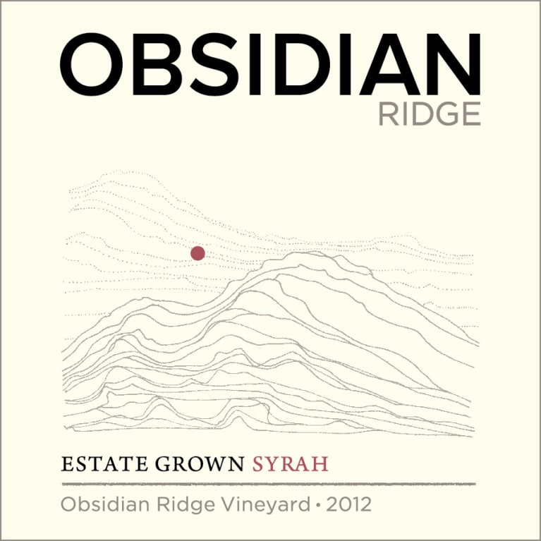 Obsidian Ridge Syrah 2012 Front Label
