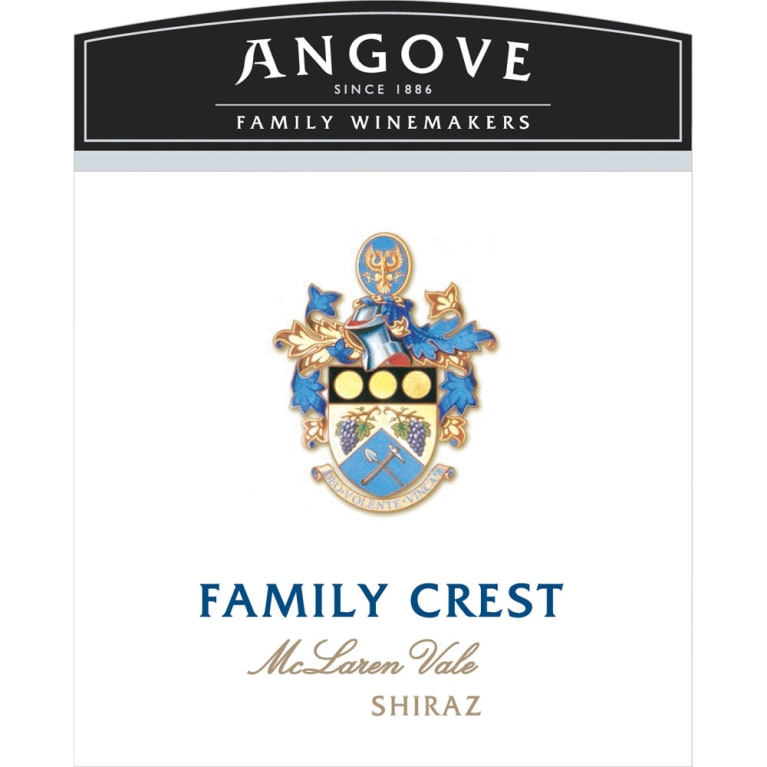 Angove Family Winemakers Family Crest Shiraz 2014 Front Label