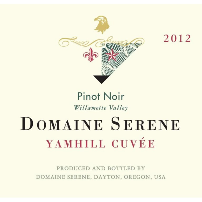 Domaine Serene Yamhill Cuvee Pinot Noir 2012 Front Label