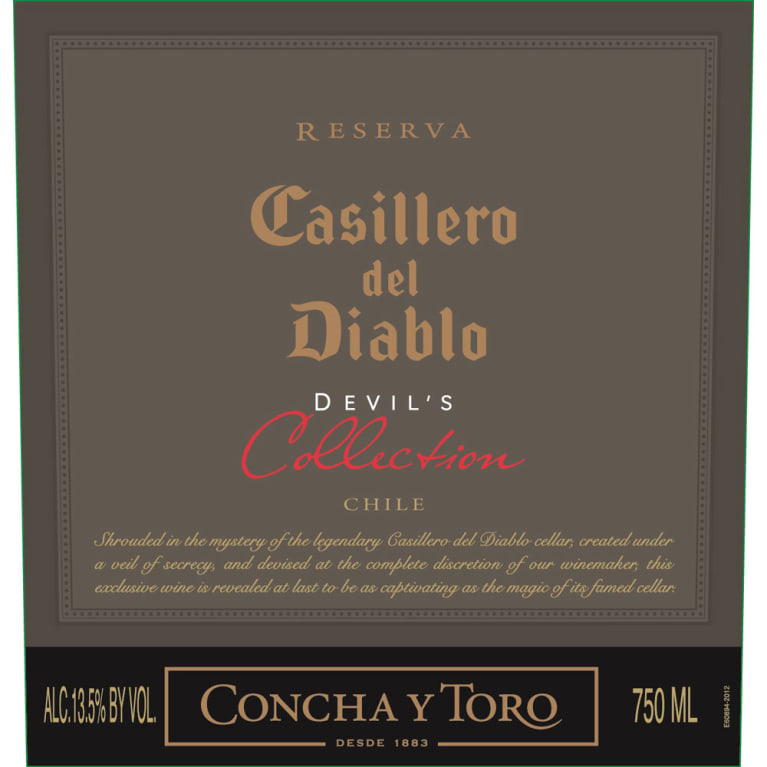 Concha y Toro Casillero del Diablo Devil's Collection Red 2014 Front Label