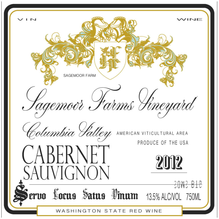 Hedges Family Estate HIP Cabernet Sauvignon 2012 Front Label
