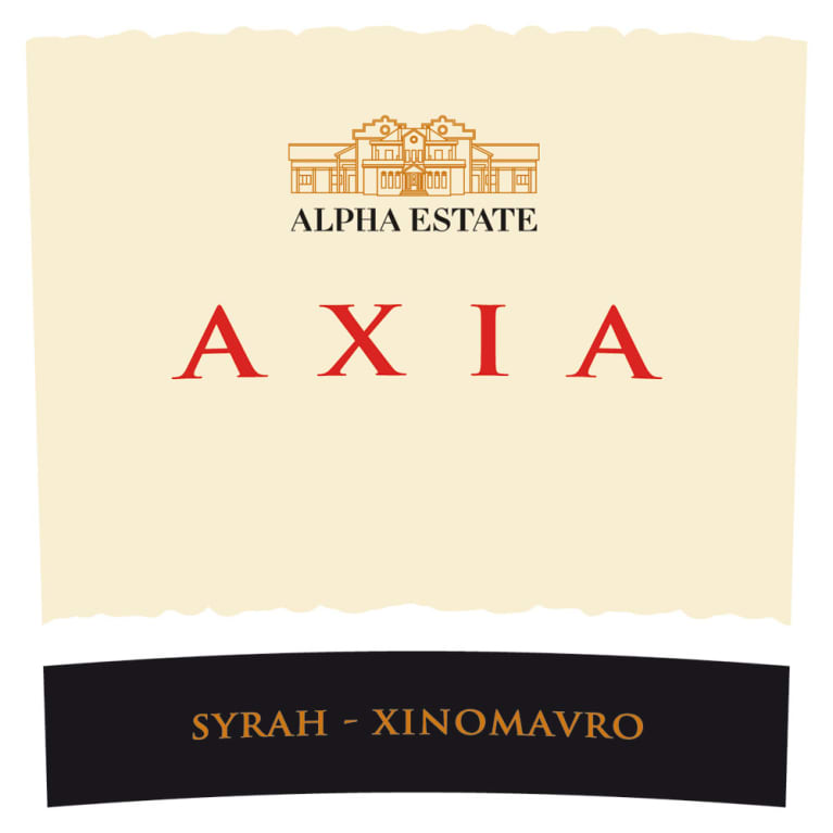 Alpha Estate Axia Red 2012 Front Label