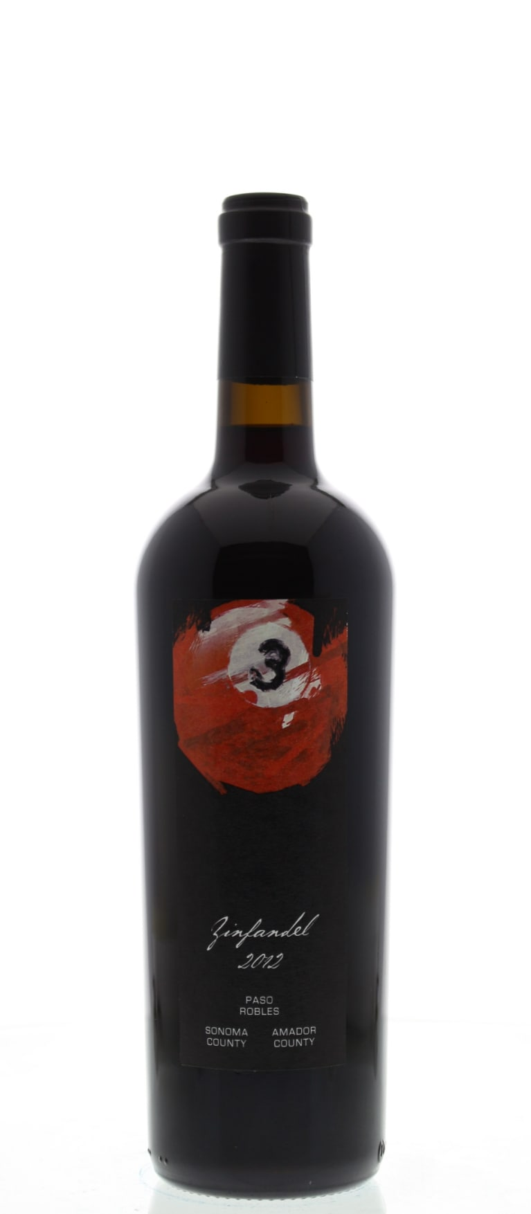 3 Ball Zinfandel 2012 Front Bottle Shot