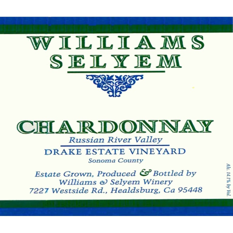 Williams Selyem Drake Estate Vineyard Chardonnay 2013 Front Label