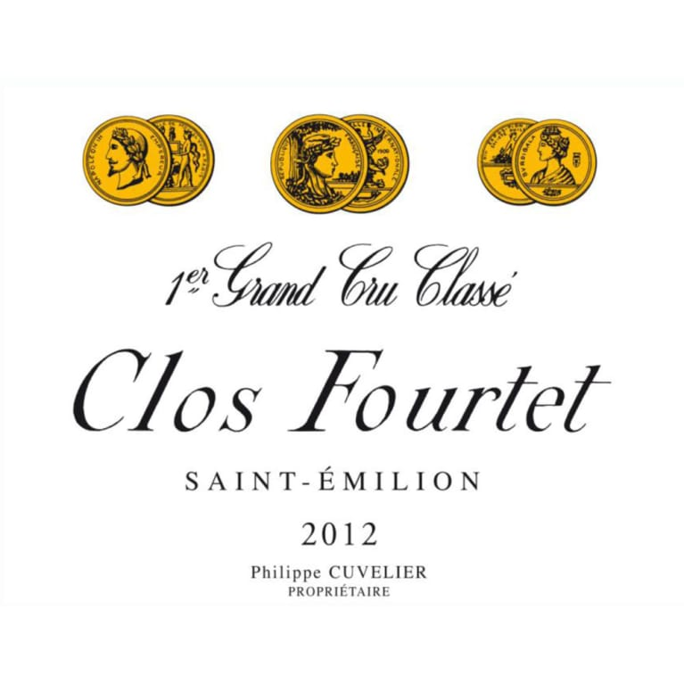 Clos Fourtet  2012 Front Label