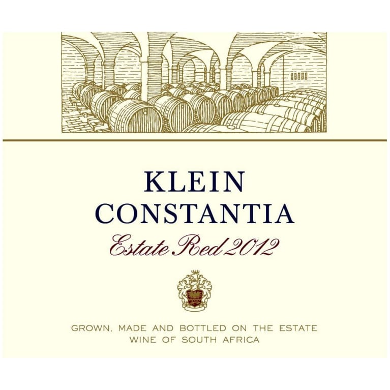Klein Constantia Estate Red Blend 2012 Front Label