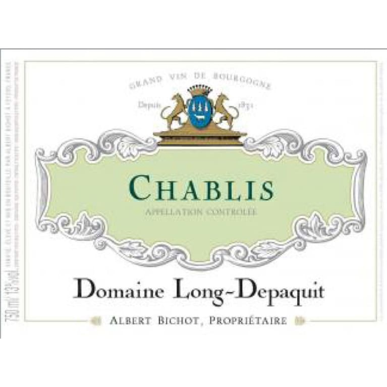Albert Bichot Chablis Domaine Long Depaquit 2014 Front Label