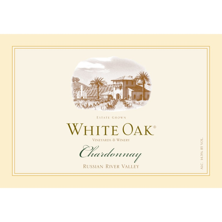 White Oak  Chardonnay 2014 Front Label