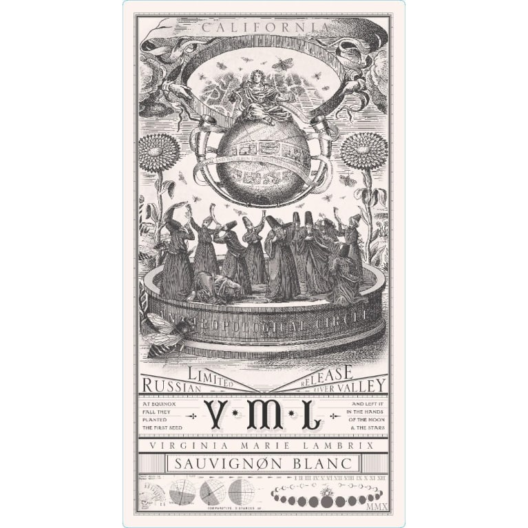 VML Winery Sauvignon Blanc 2013 Front Label