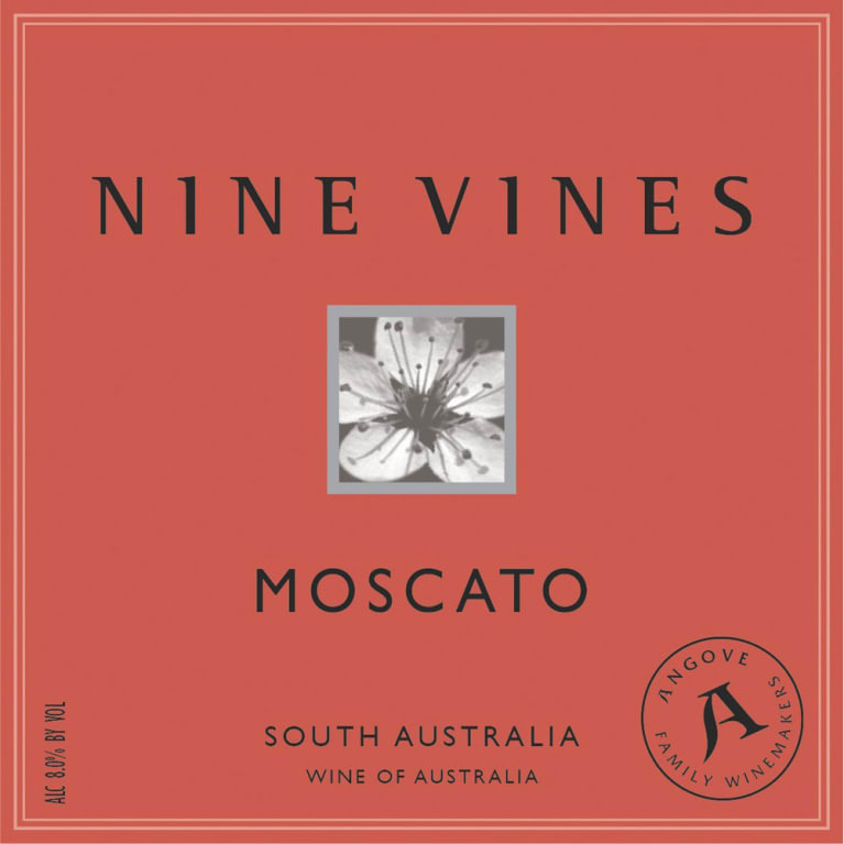 Angove Family Winemakers Nine Vines Moscato 2015 Front Label