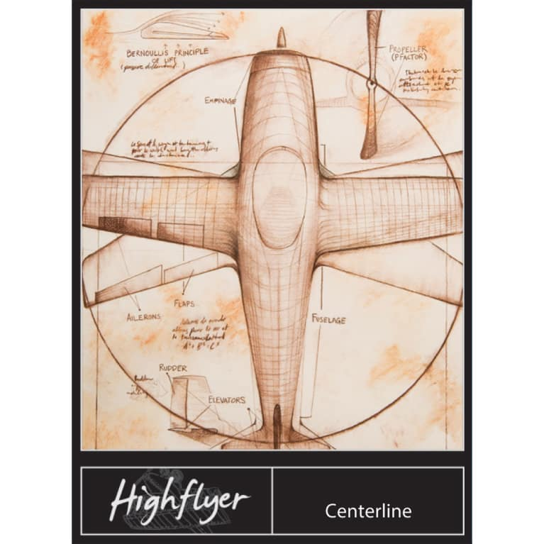 High Flyer Centerline Red 2011 Front Label