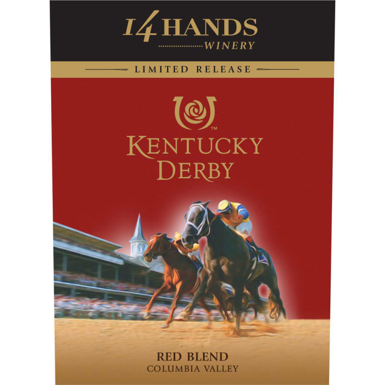 14 Hands Limited Release Kentucky Derby Red Blend 2013 Front Label