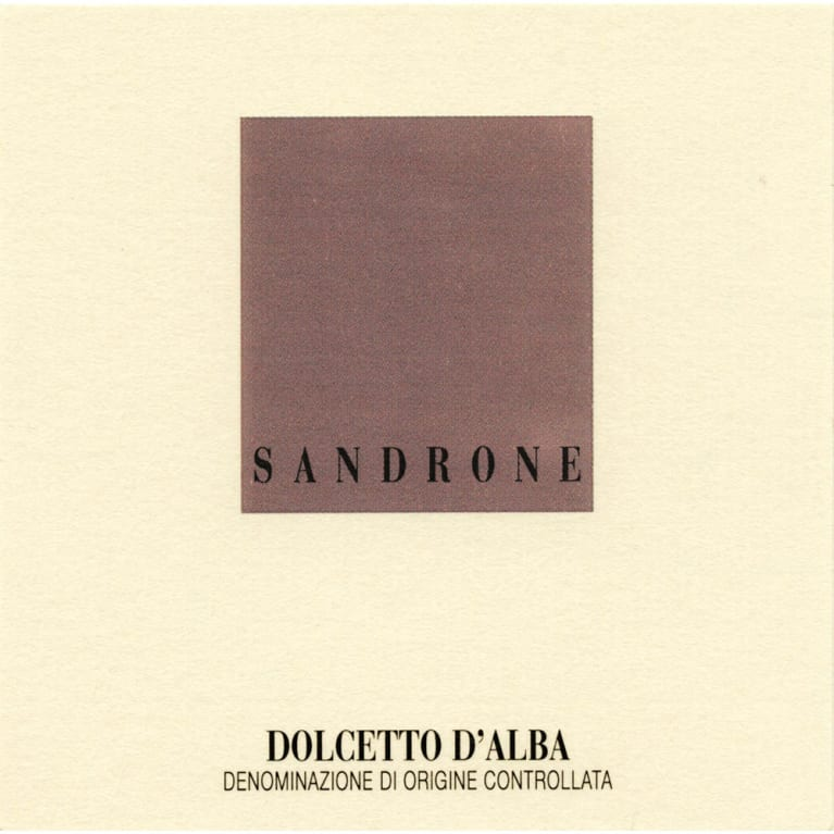 Sandrone Dolcetto d'Alba 2014 Front Label