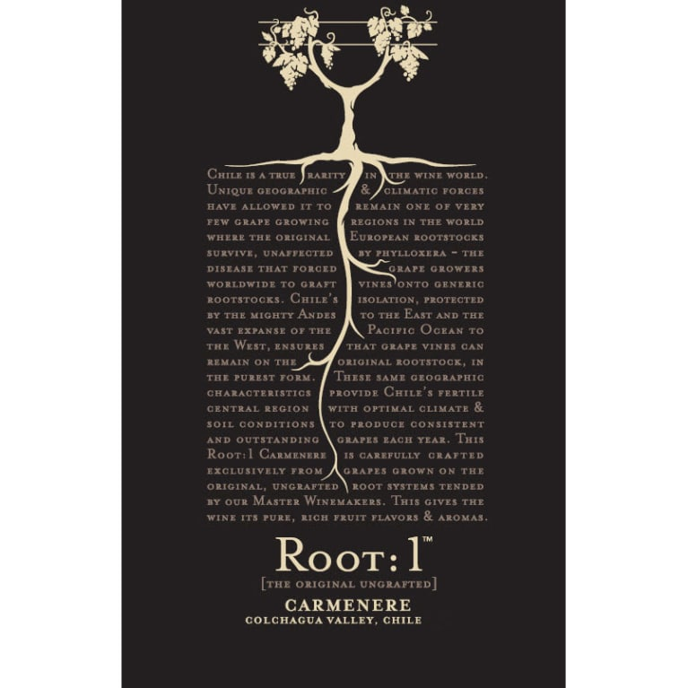Root 1 Carmenere 2013 Front Label