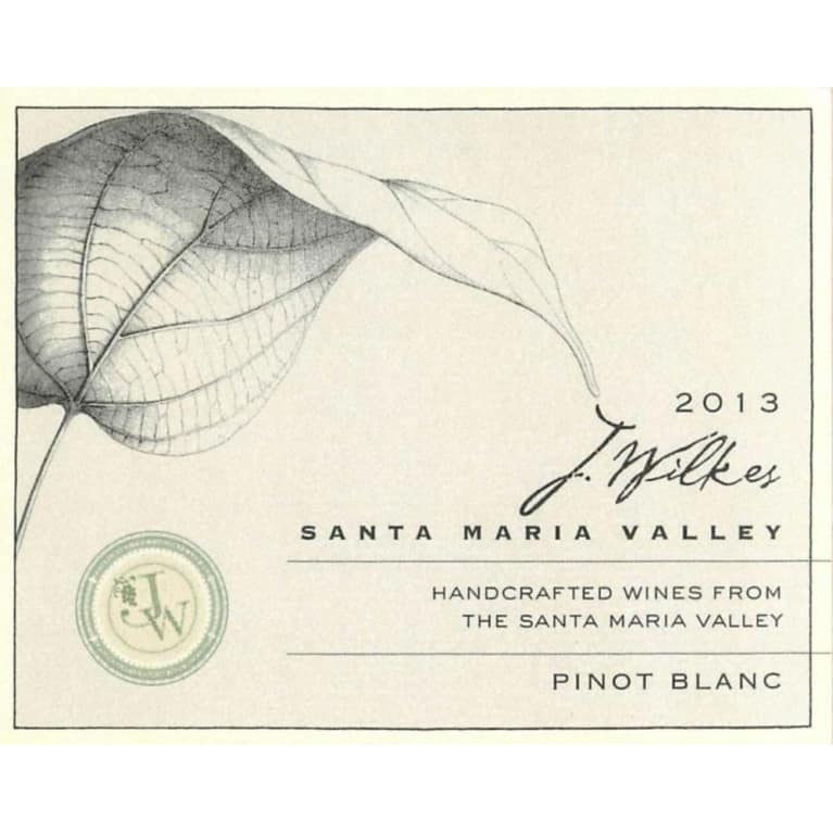 J Wilkes Pinot Blanc 2013 Front Label