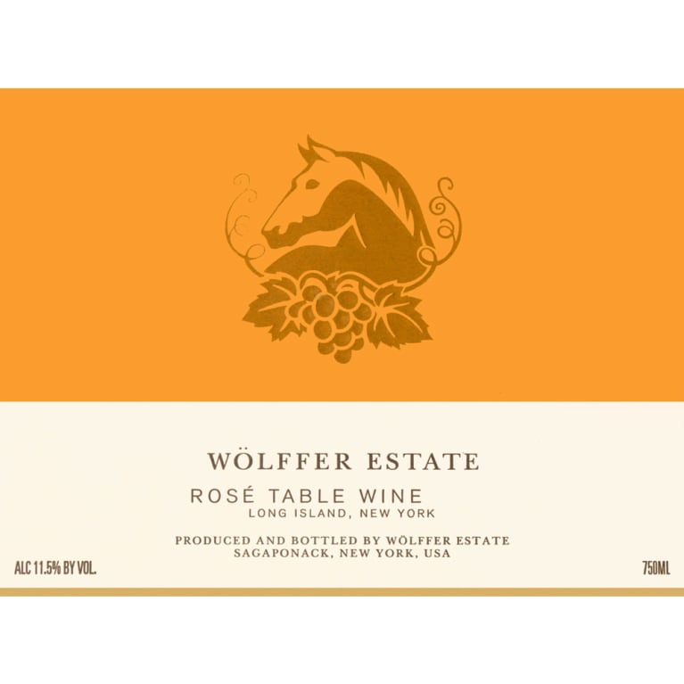Wolffer Estate Rose 2015 Front Label