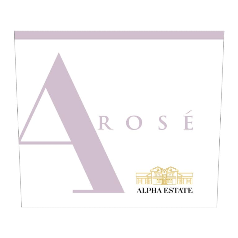 Alpha Estate Rose 2015 Front Label