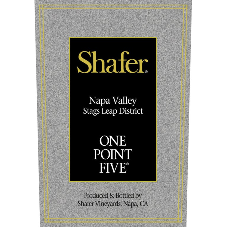 Shafer One Point Five Cabernet Sauvignon 2013 Front Label