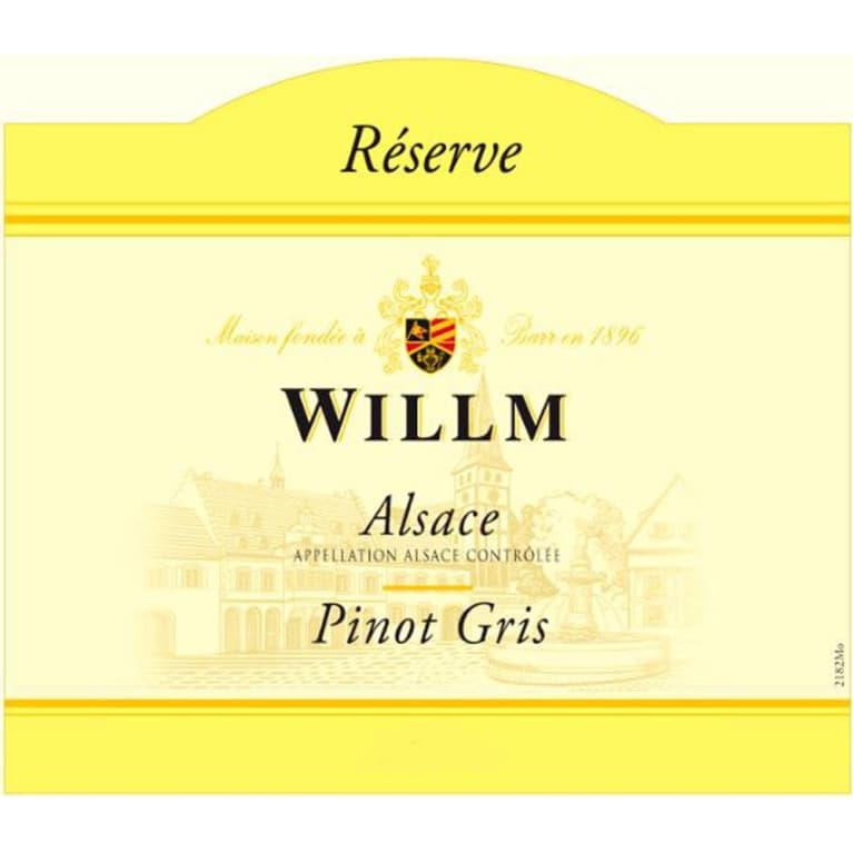 Alsace Willm Pinot Gris Reserve 2014 Front Label
