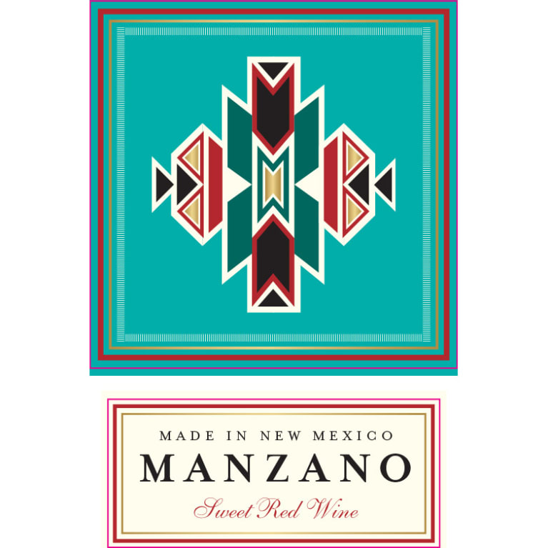 Manzano Sweet Red Wine Front Label